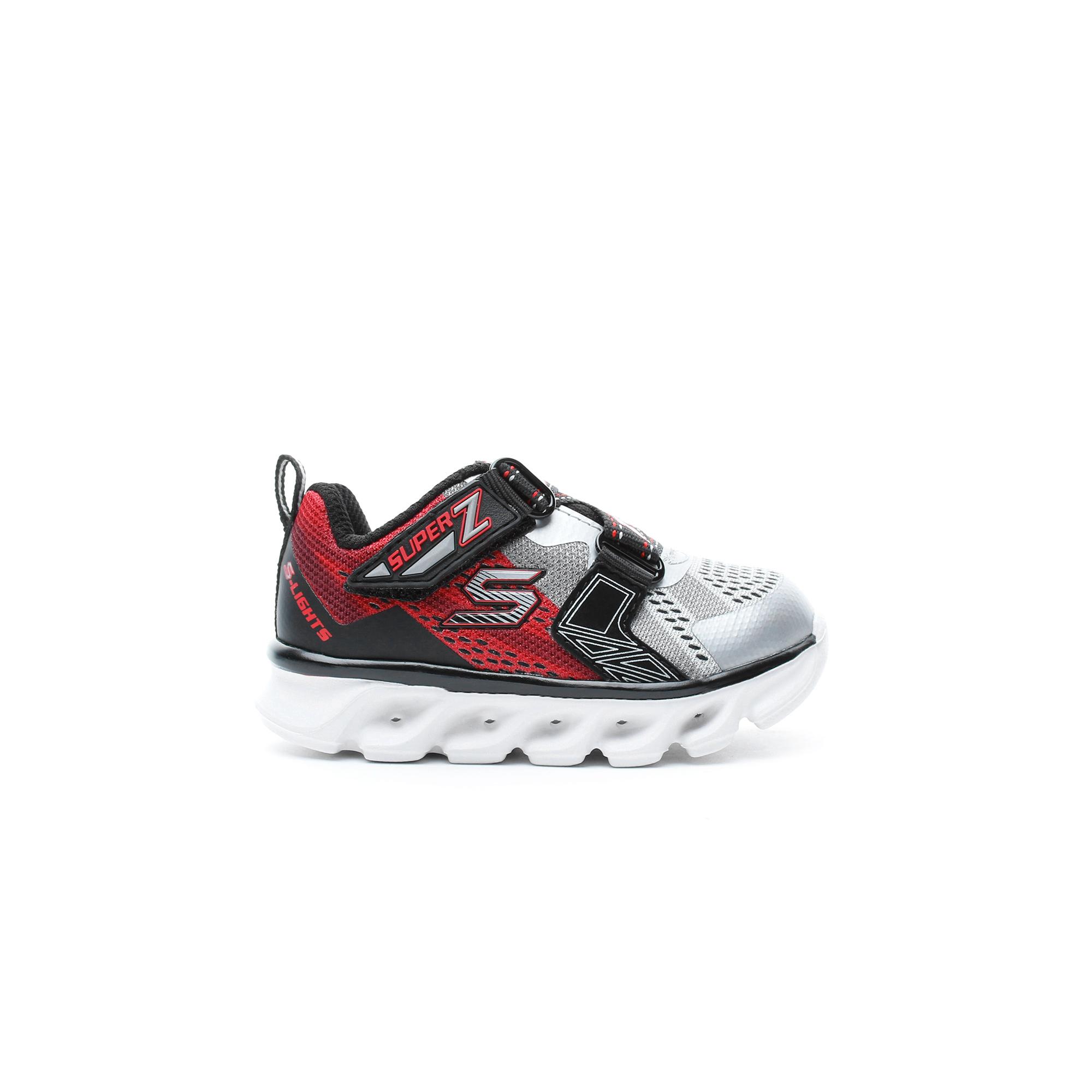Skechers Hypno-Flash Işıklı Bebek Kırmızı Spor Ayakkabı