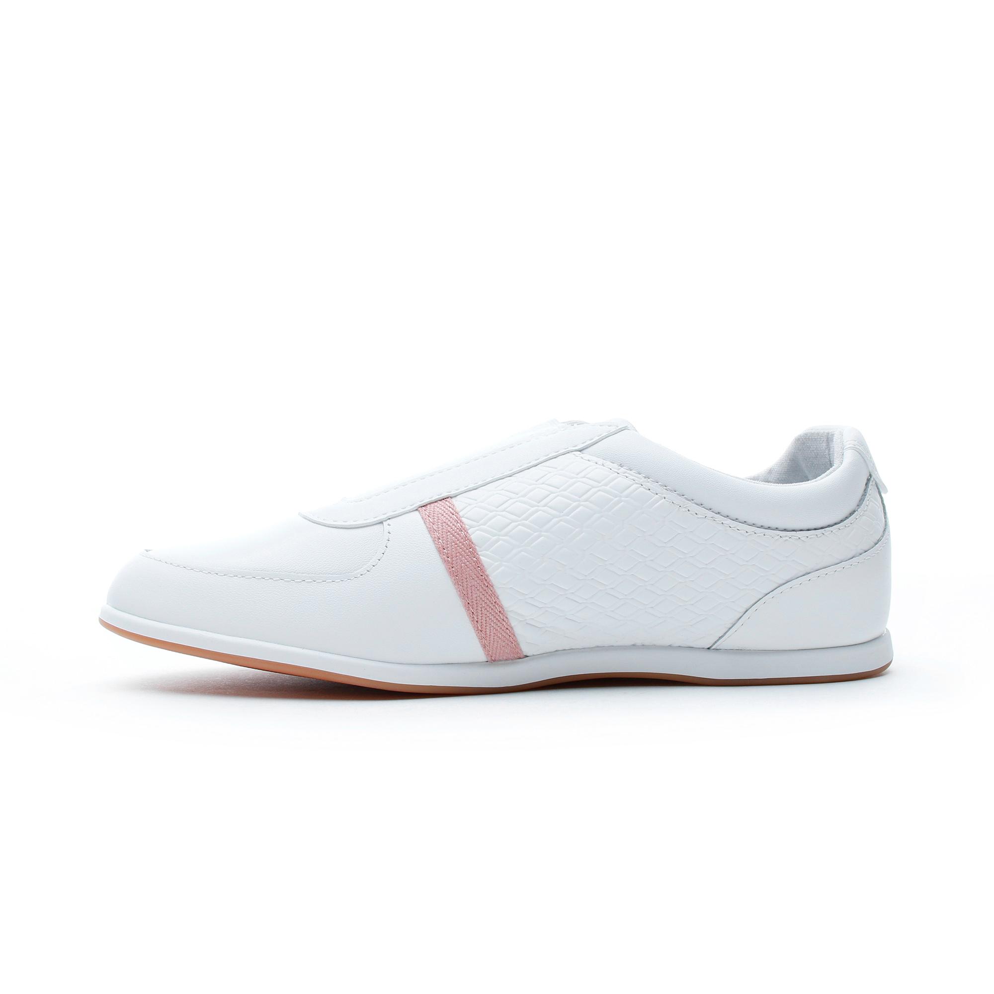 Lacoste Kadın Rey Slip 318 1 Beyaz-Pembe Günlük Ayakkabı