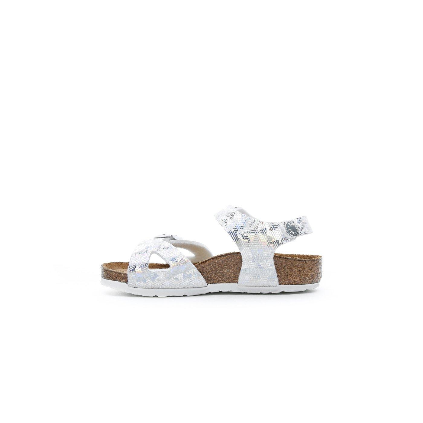 Birkenstock Rio Kids MF Çocuk Gümüş Sandalet
