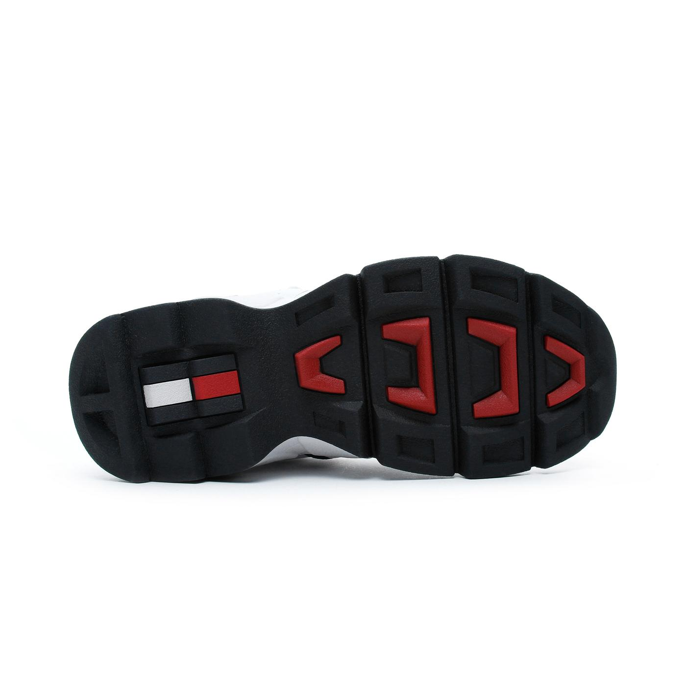 Tommy Hilfiger Chunky Heritage Kadın Beyaz-Kırmızı Spor Ayakkabı
