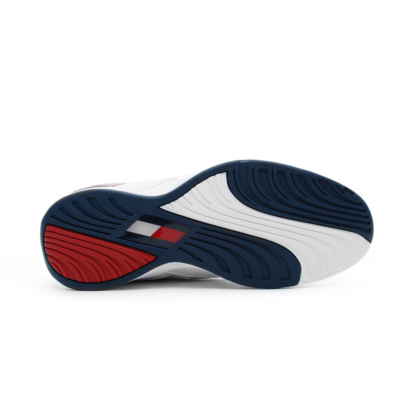 Tommy Hilfiger The Skew Heritage Erkek Beyaz-Lacivert Spor Ayakkabı
