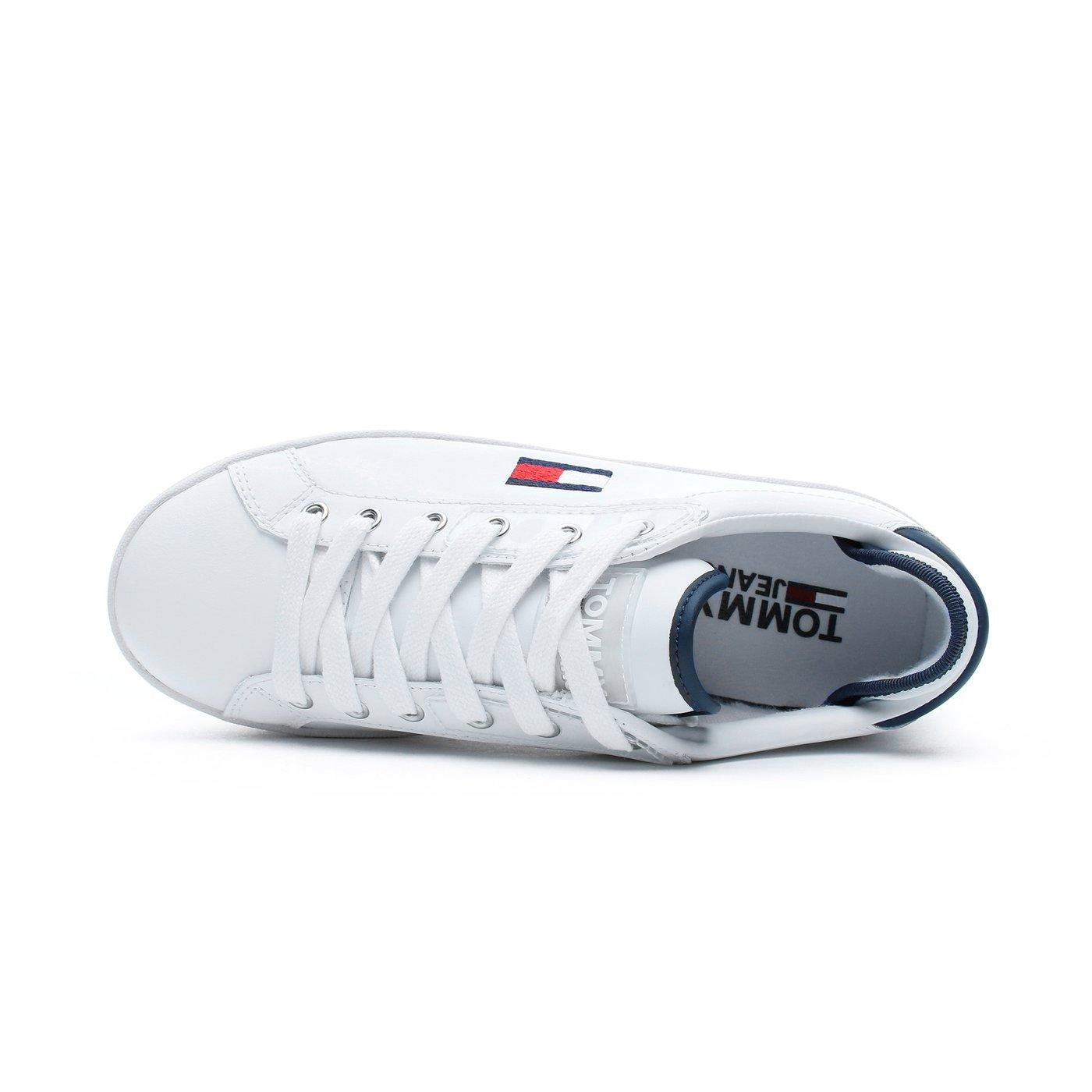 Tommy Hilfiger Flatform Kadın Beyaz Spor Ayakkabı