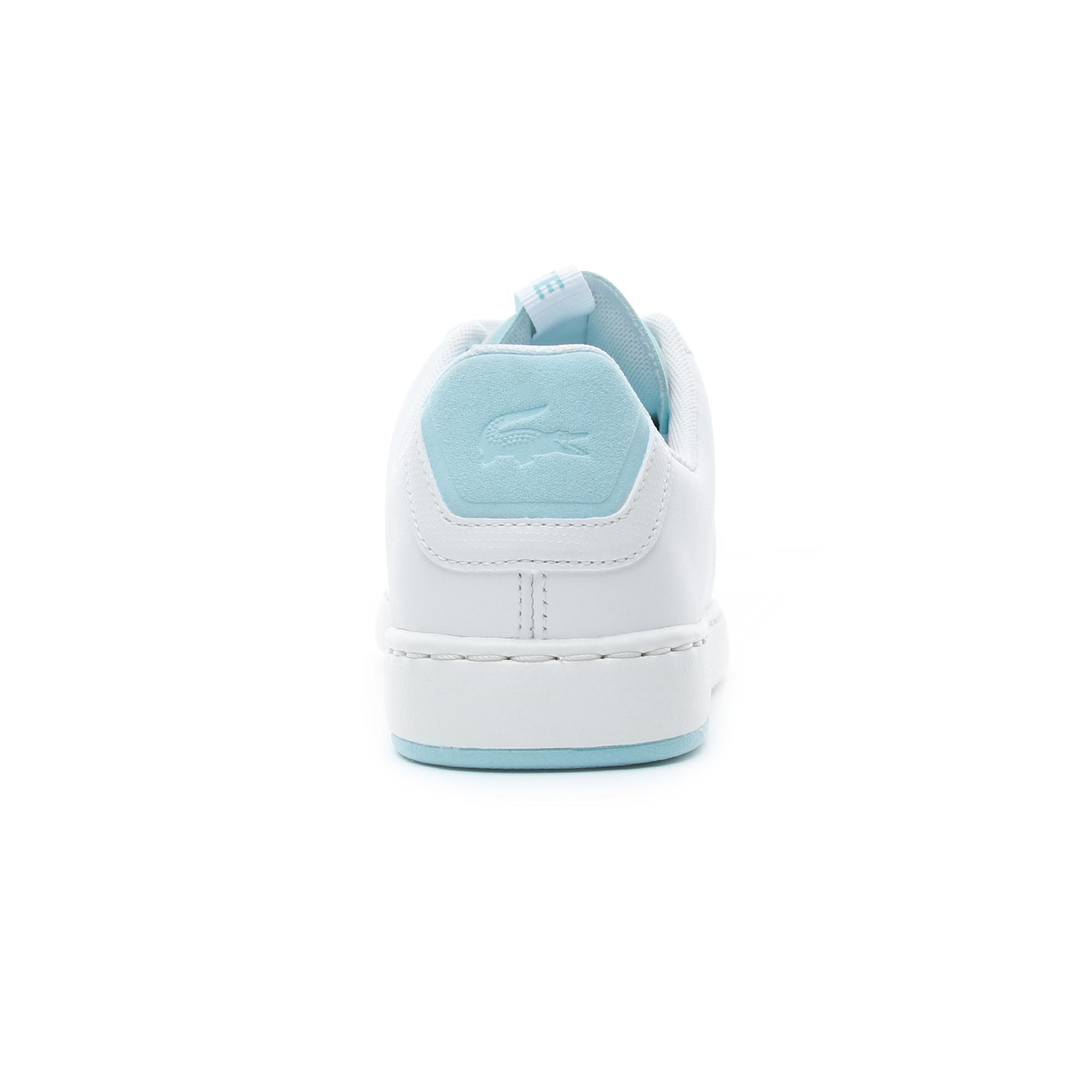 Lacoste Carnaby Evo Kadın Beyaz - Açık Yeşil Spor Ayakkabı