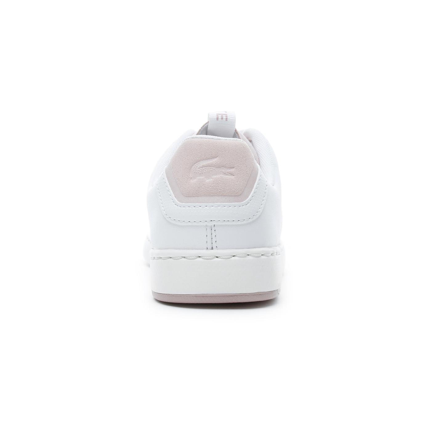 Lacoste Carnaby Evo Kadın Beyaz - Pudra Spor Ayakkabı