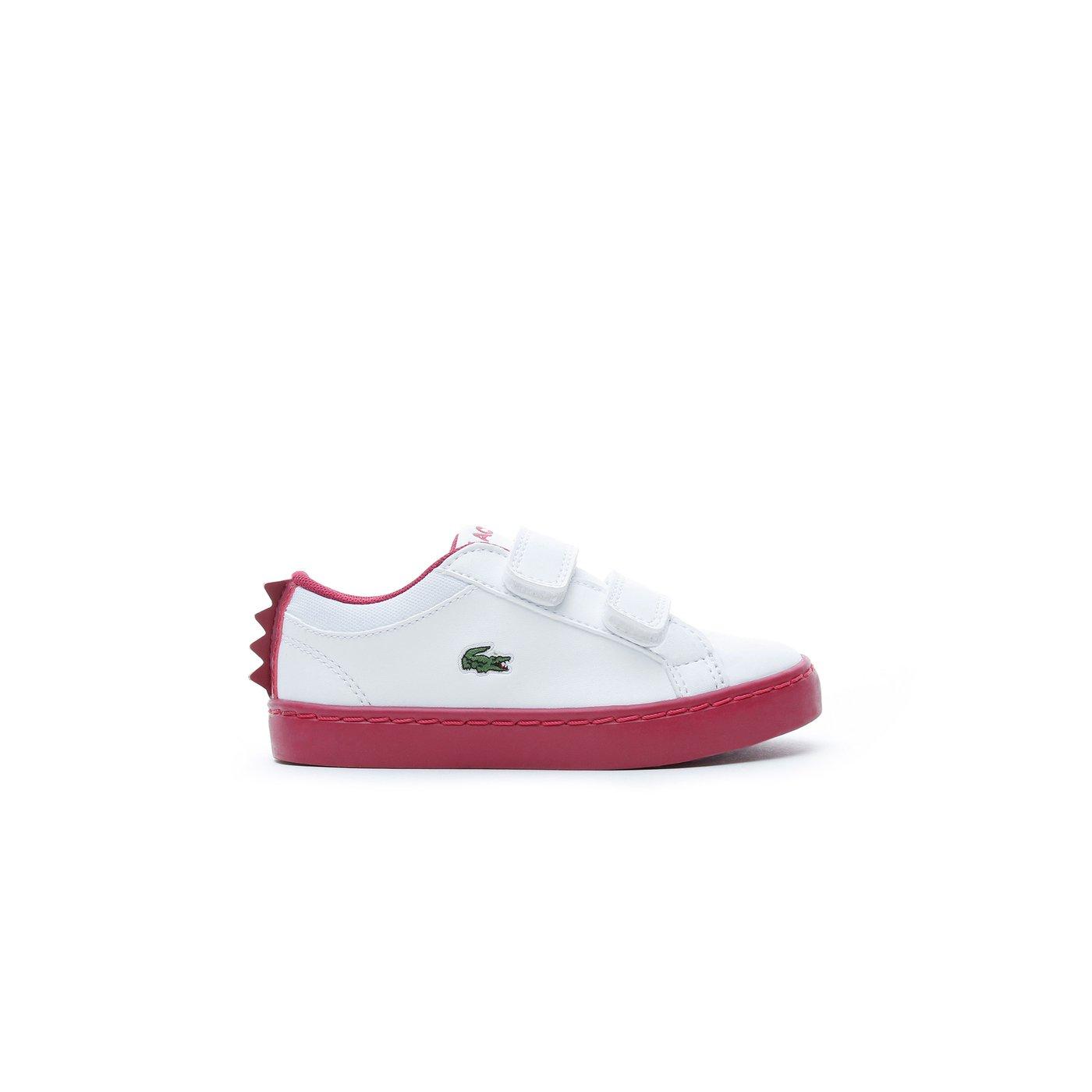 Lacoste Çocuk Beyaz - Koyu Pembe Spor Ayakkabı