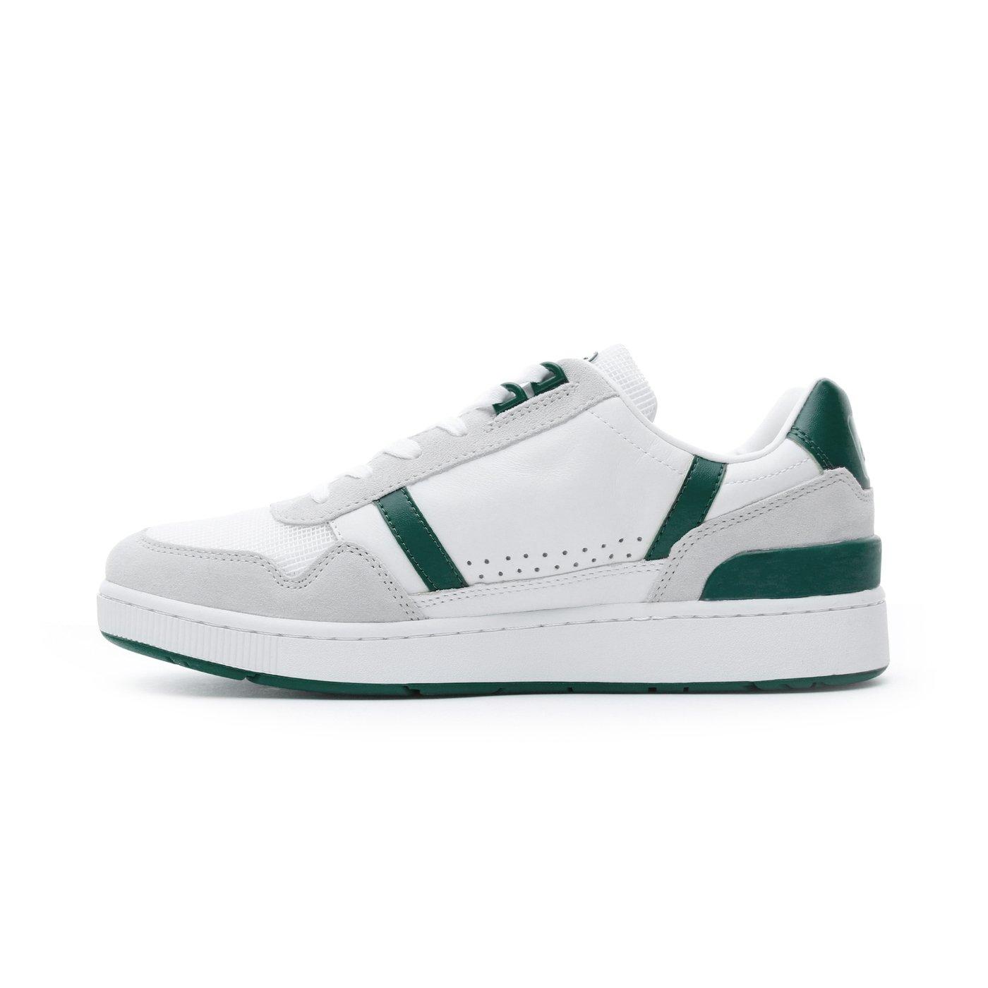 Lacoste T-Clip  Erkek Beyaz - Yeşil Spor Ayakkabı