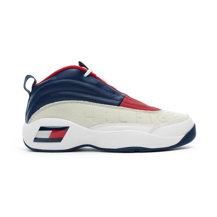 Tommy Hilfiger The Skew Heritage Kadın Beyaz-Lacivert Spor Ayakkabı