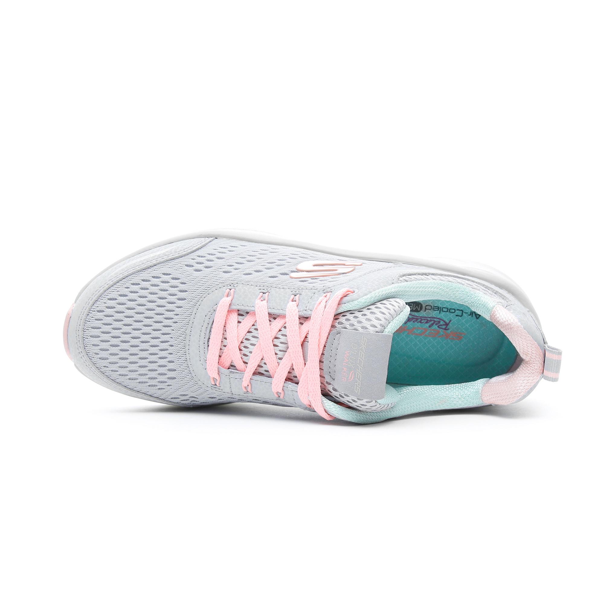 Skechers D'Lux Walker - Infinite Motion Kadın Gri Spor Ayakkabı