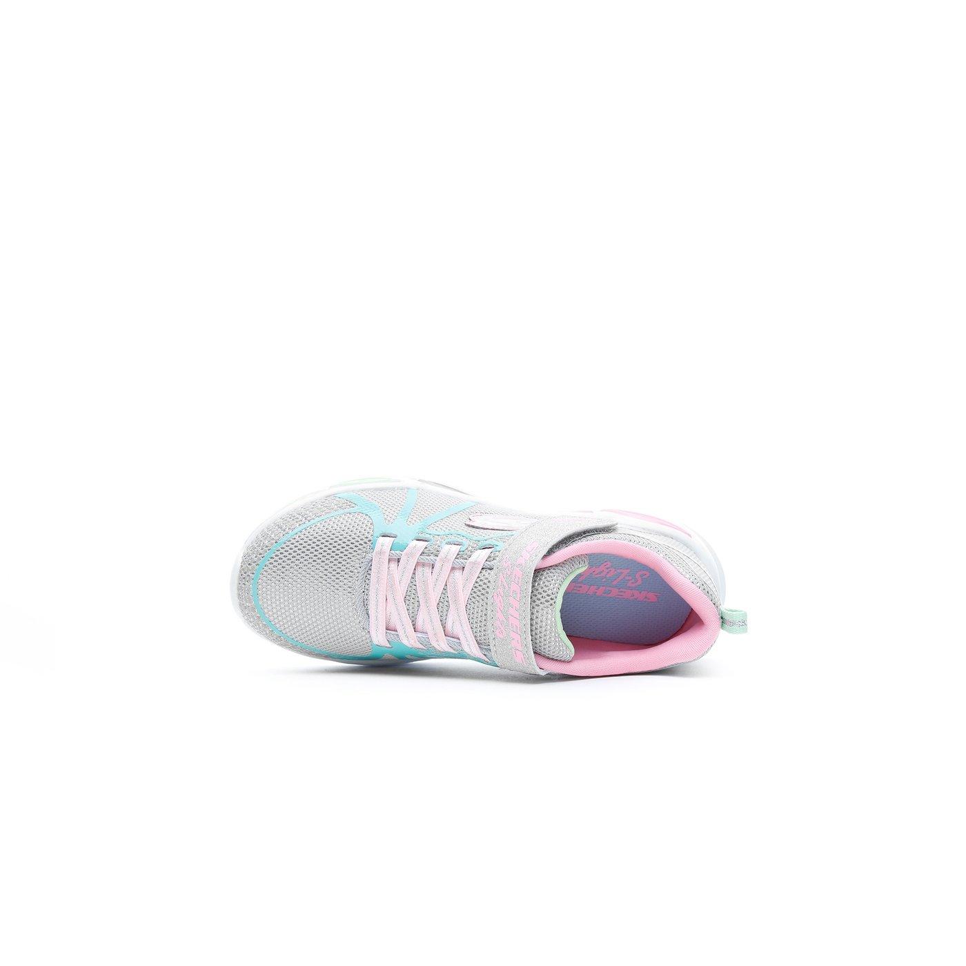 Skechers Shimmer Beams-Sporty Glow Işıklı Çocuk Gri Spor Ayakkabı