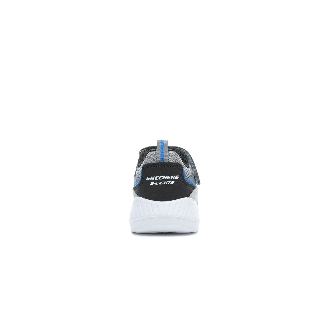 Skechers Magna Lights-Vendow Işıklı Bebek Gri Spor Ayakkabı