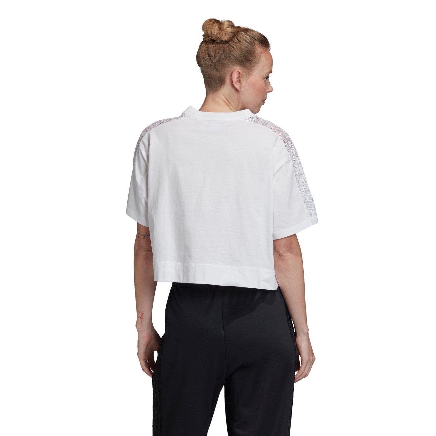 adidas Lace Kadın Beyaz T-Shirt