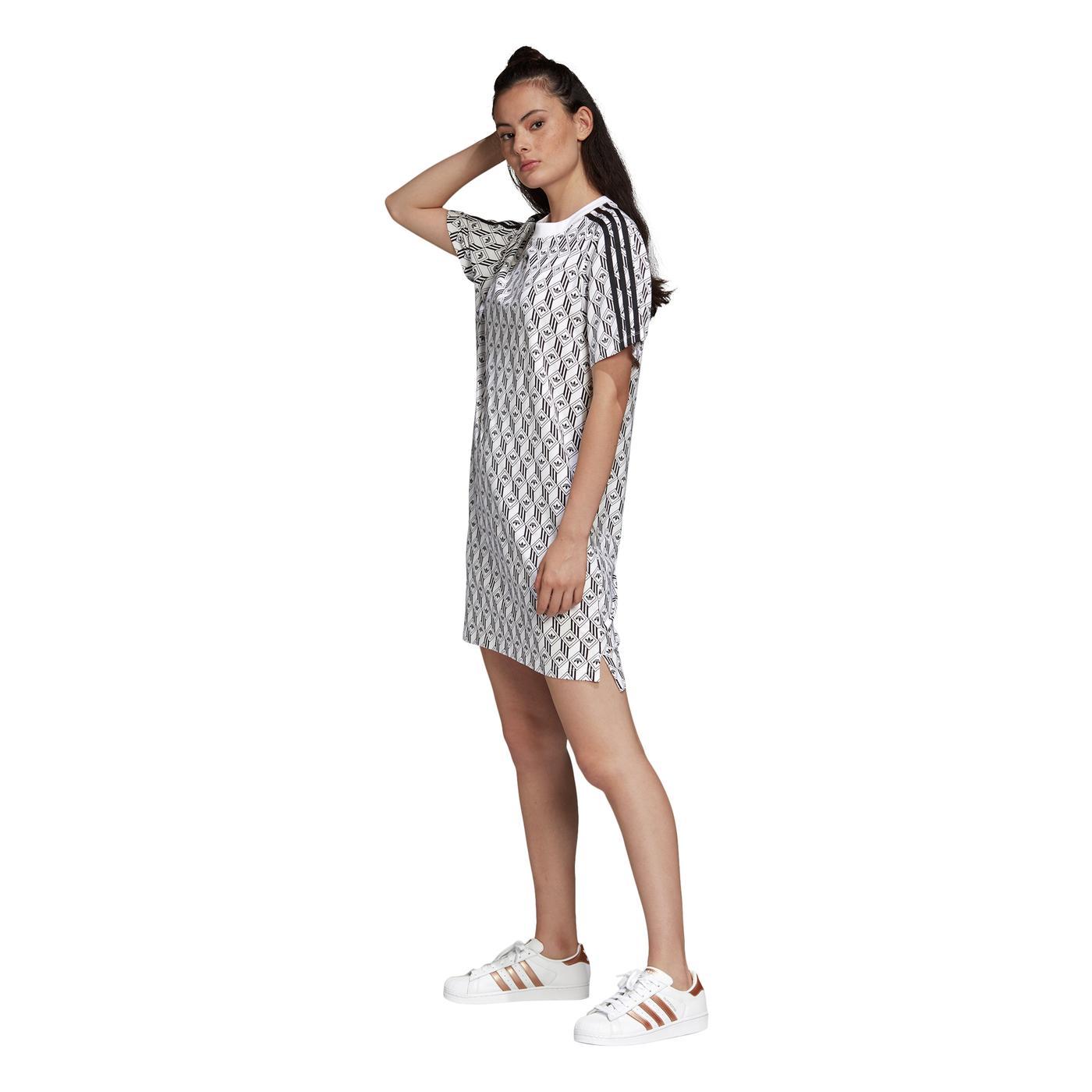 adidas Kadın Beyaz Tişört Elbise