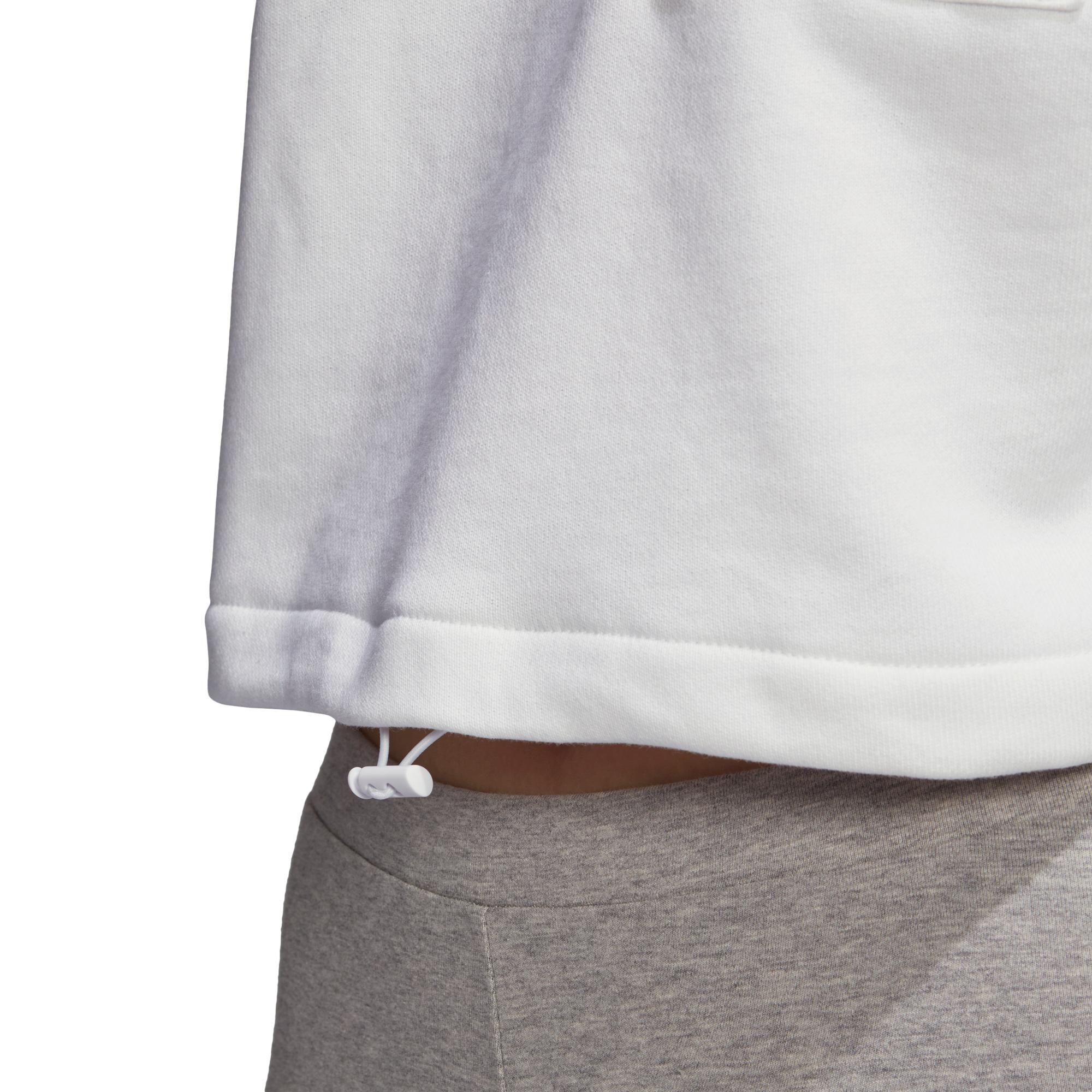 adidas Cropped Kadın Beyaz Sweatshirt