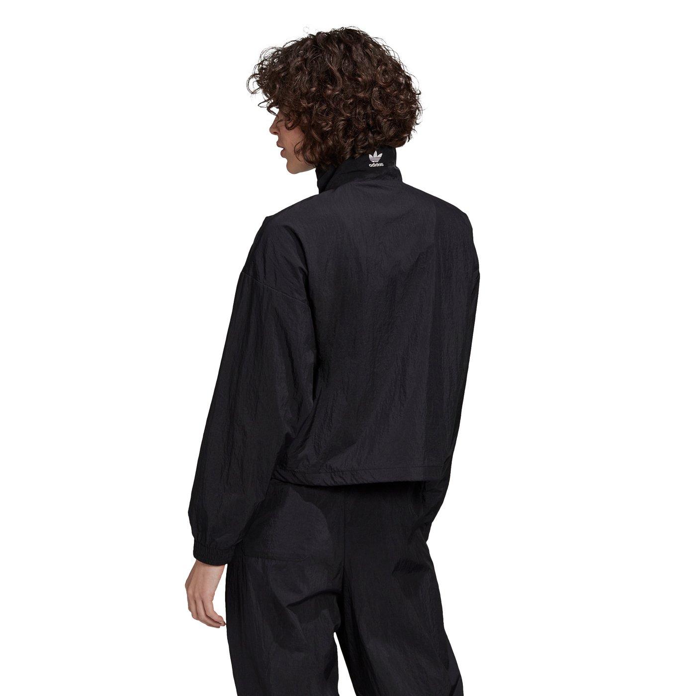 adidas LRG Logo Kadın Siyah Fermuarlı Sweatshirt