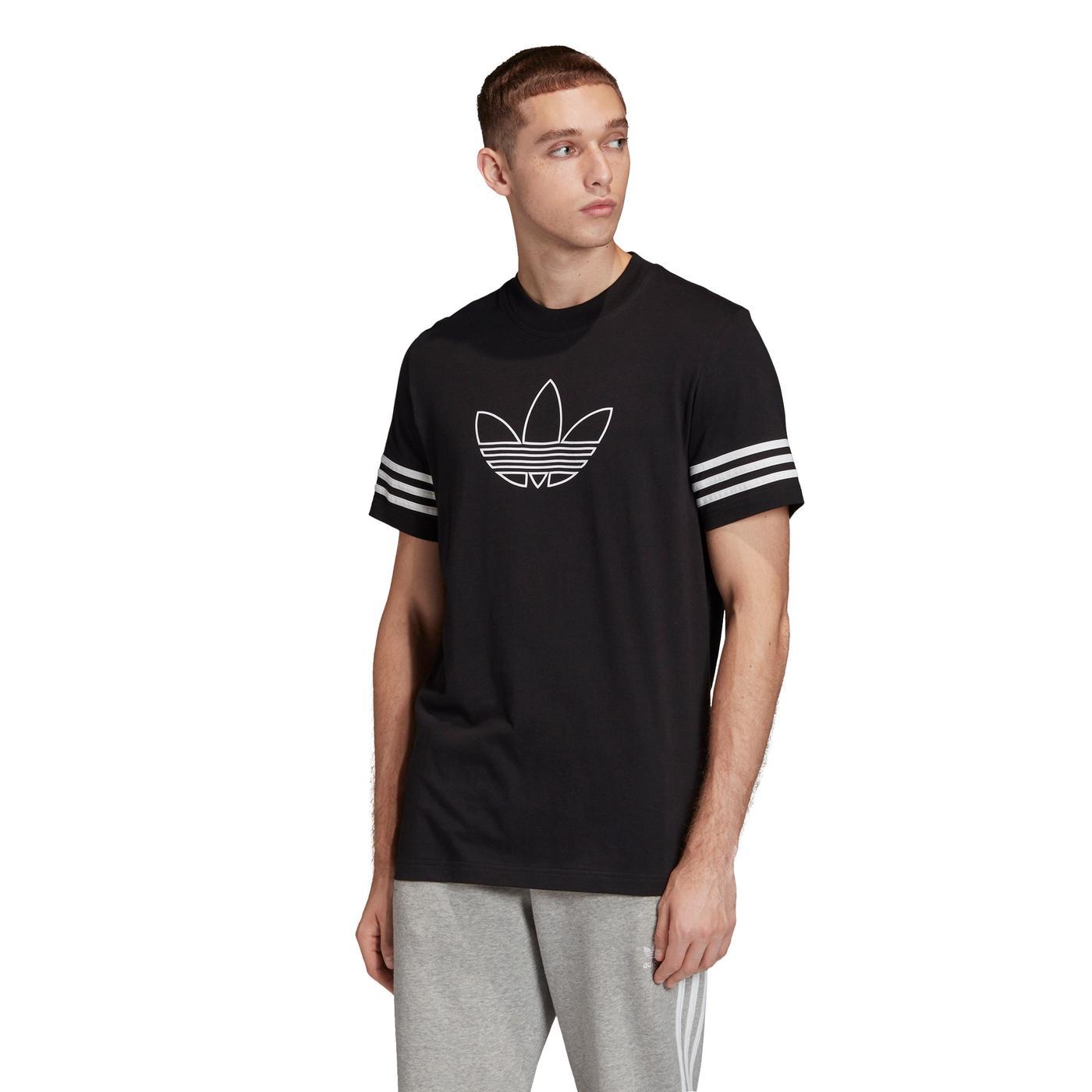adidas Outline Erkek Siyah T-Shirt