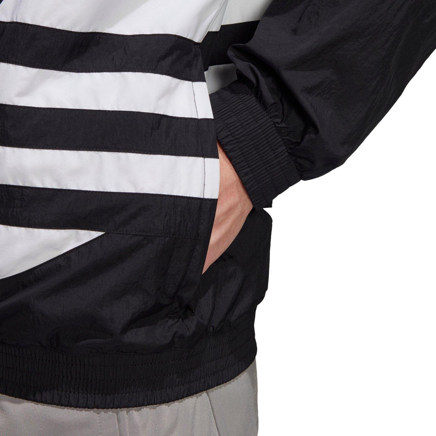 adidas Big Trefoil Erkek Siyah Fermuarlı Sweatshirt