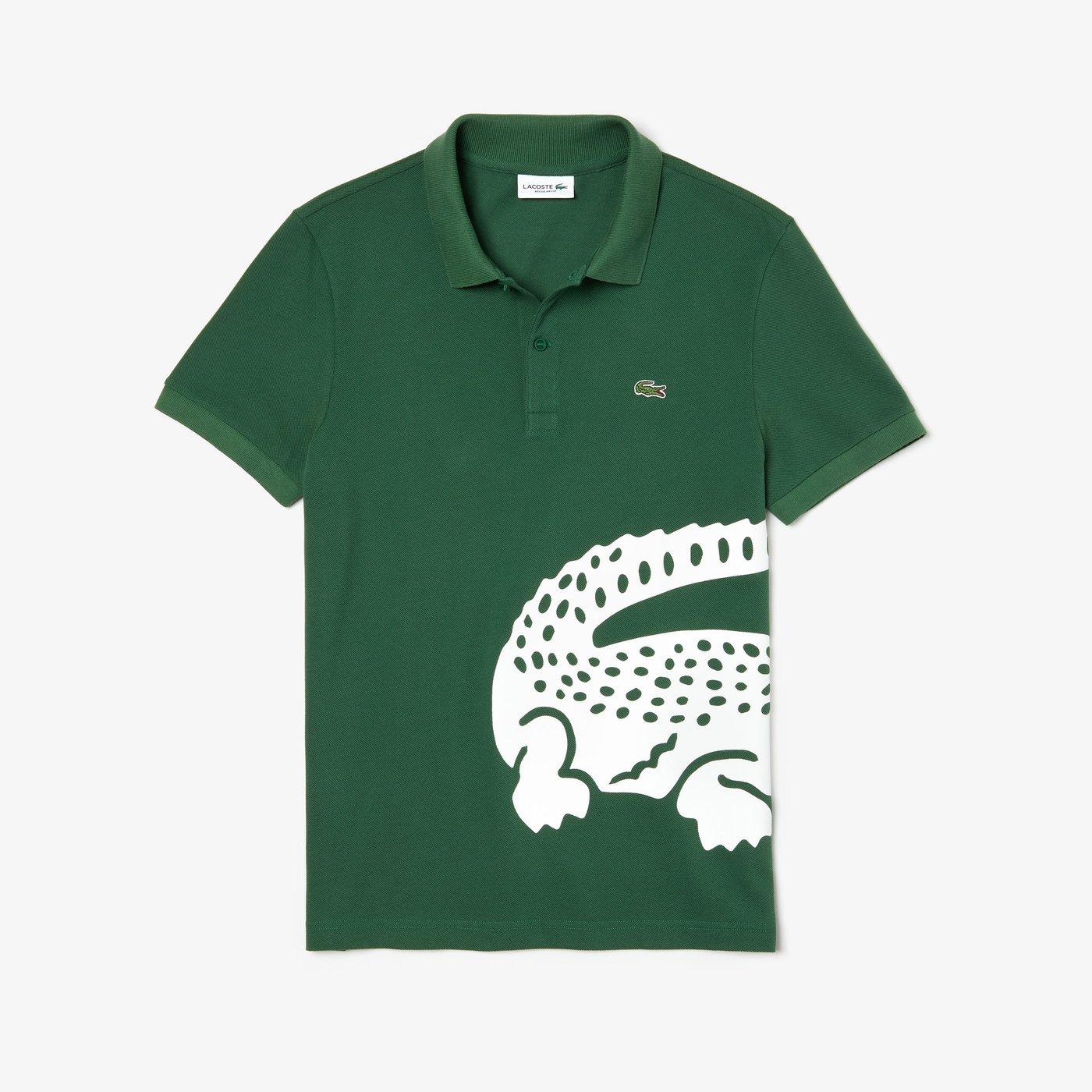 Lacoste Erkek Regular Fit Baskılı Yeşil Polo
