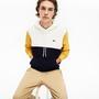 Lacoste Erkek Kapüşonlu Blok Desenli Renkli Sweatshirt