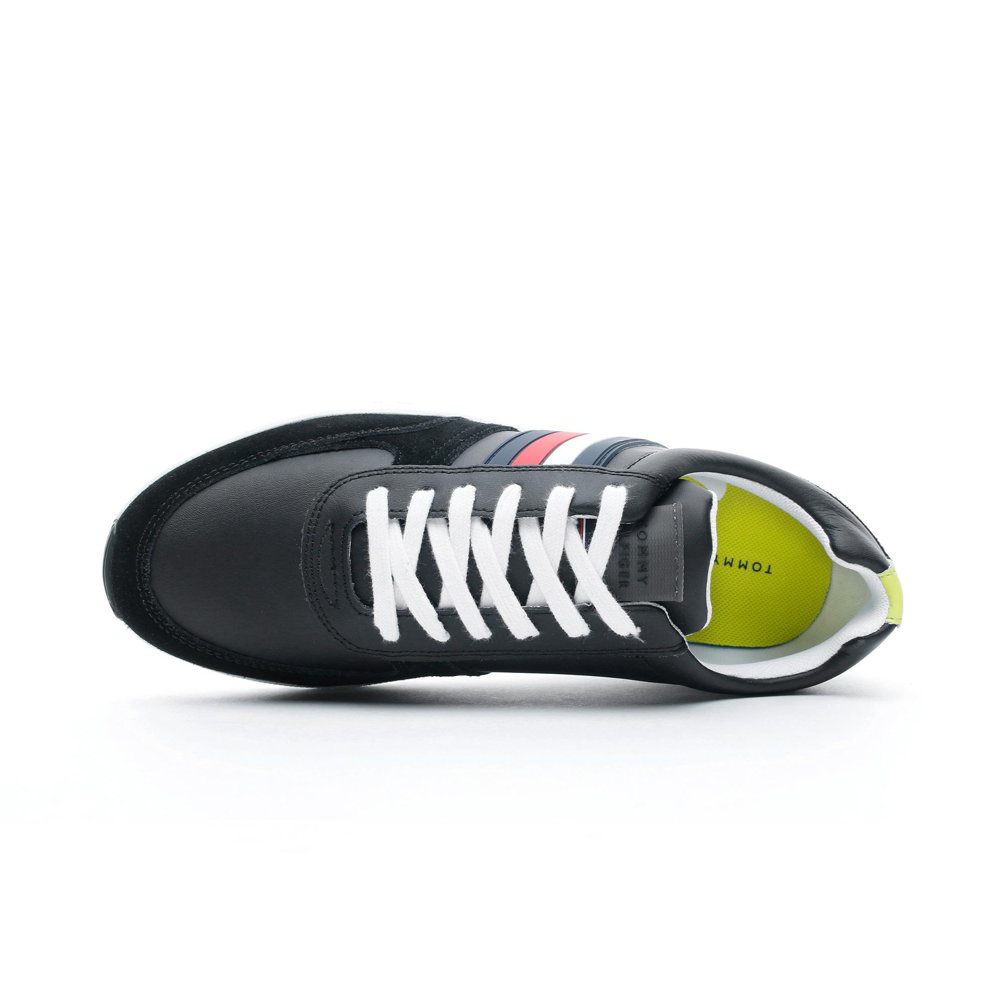 Tommy Hilfiger Erkek Siyah Spor Ayakkabı