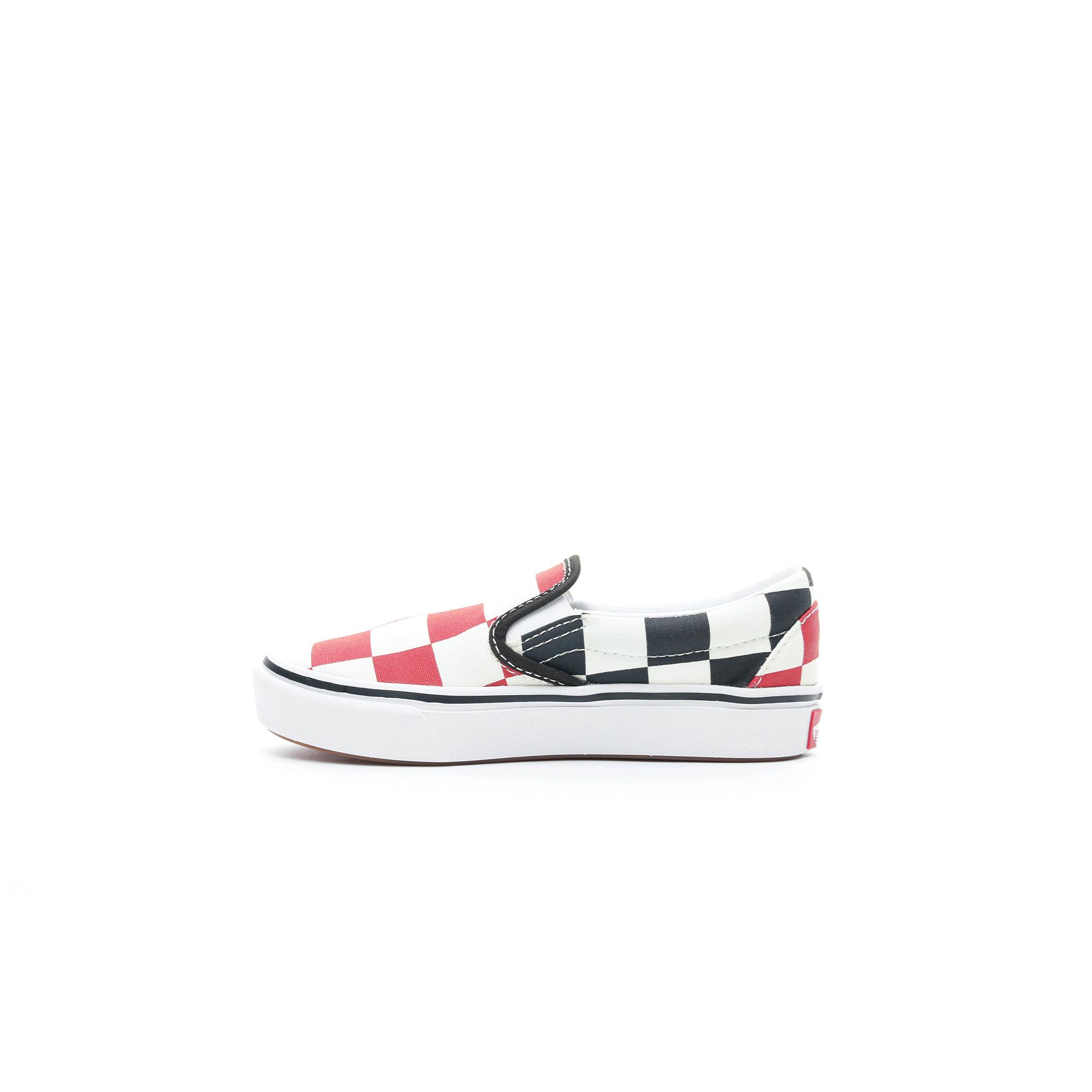 Vans ComfyCush Slip-On Çocuk Bej-Kırmızı Sneaker