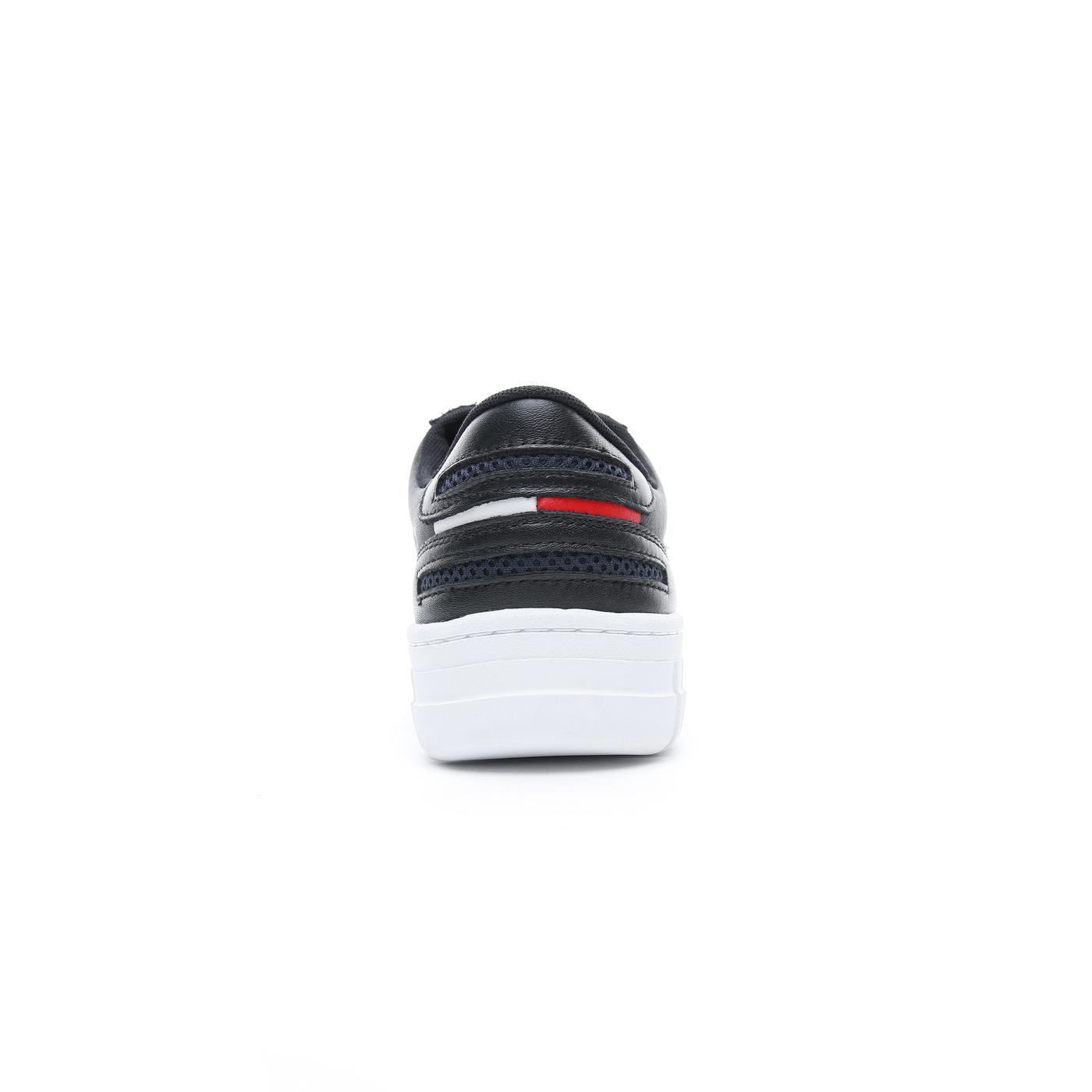 Tommy Hilfiger Essential Retro Erkek Siyah Spor Ayakkabı