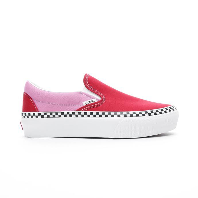 Vans Classic Slip-On Platform Kadın Kırmızı Sneaker