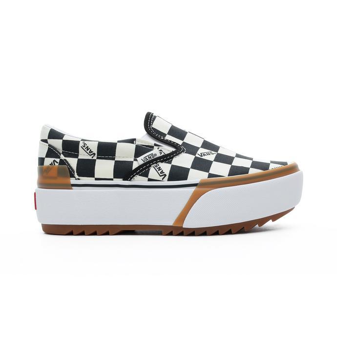 Vans Classic Slip-On Stacked Kadın Bej-Siyah Sneaker