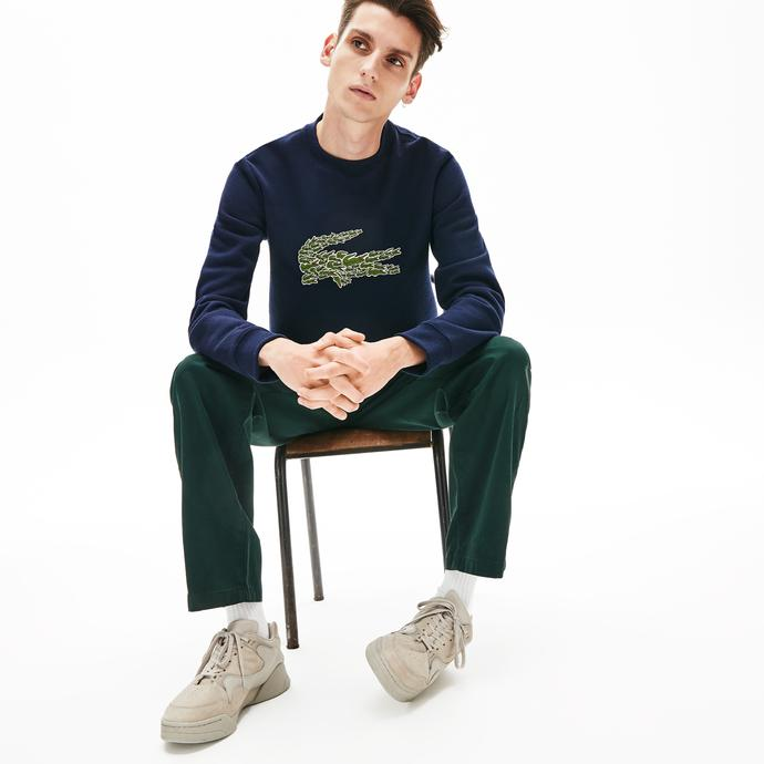 Lacoste Croco Magic Erkek Lacivert Sweatshirt