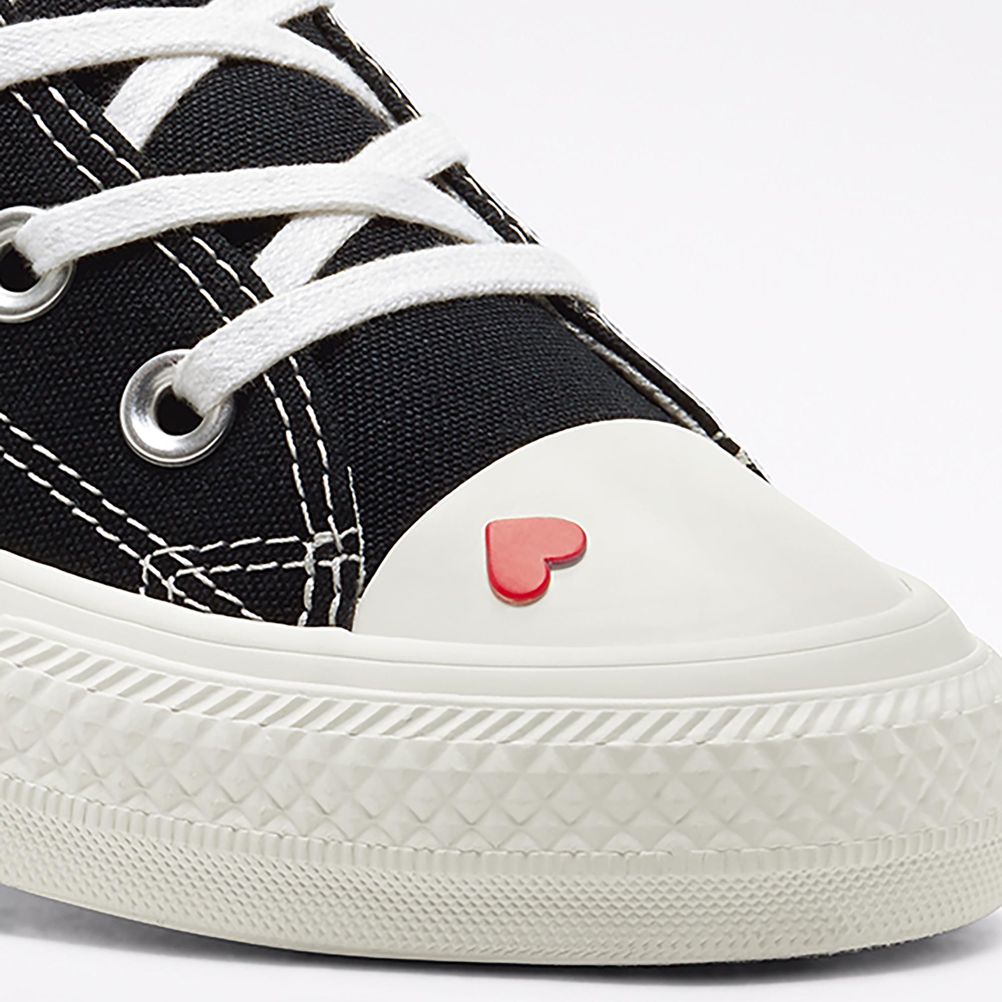 Converse Love Fearlessly Chuck Taylor All Star Hi Kadın Siyah Sneaker