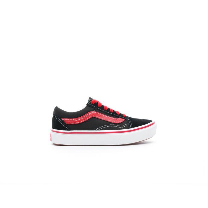 Vans ComfyCush Old Skool Çocuk Siyah-Kırmızı Sneaker