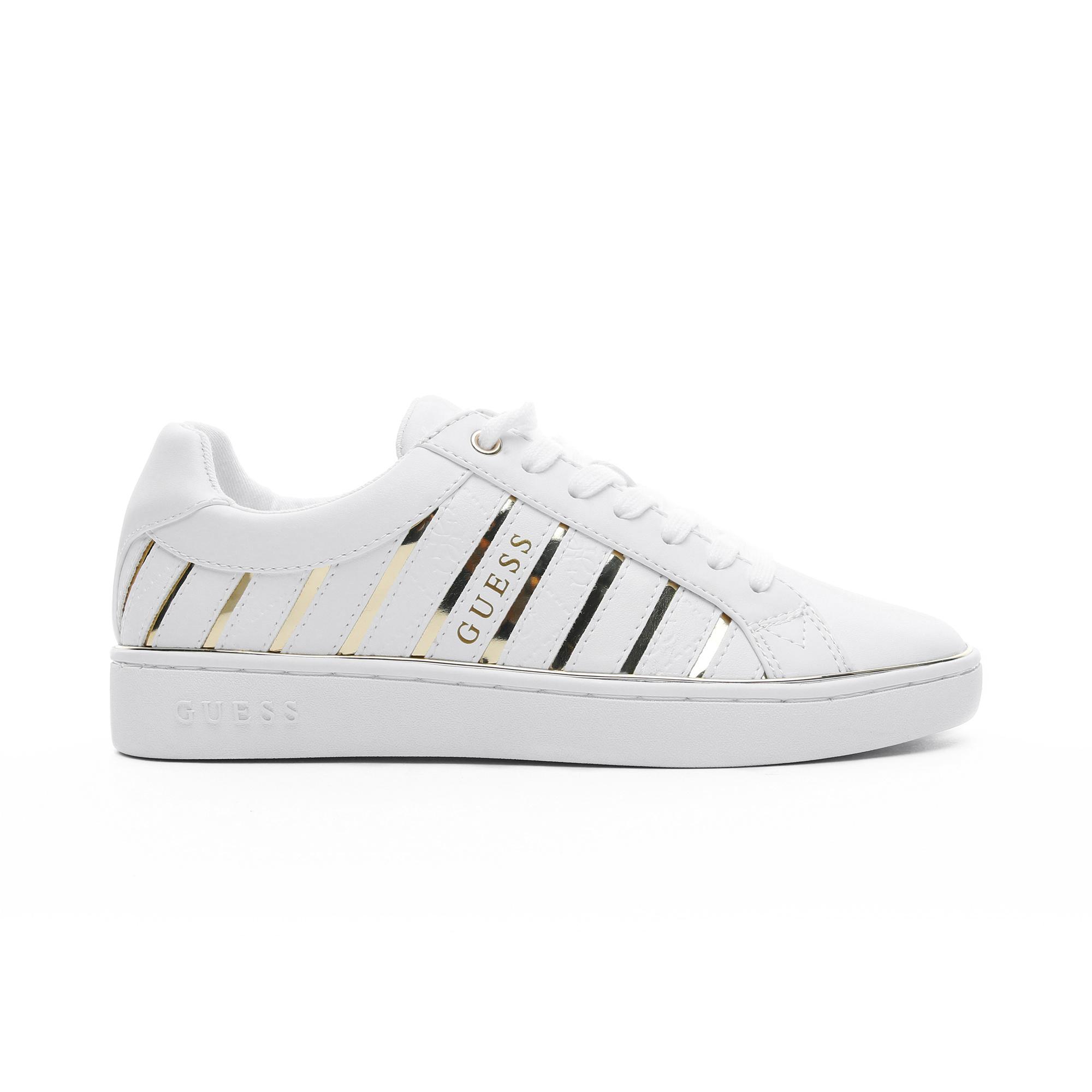 Guess Bolier Kadın Beyaz-Altın Spor Ayakkabı