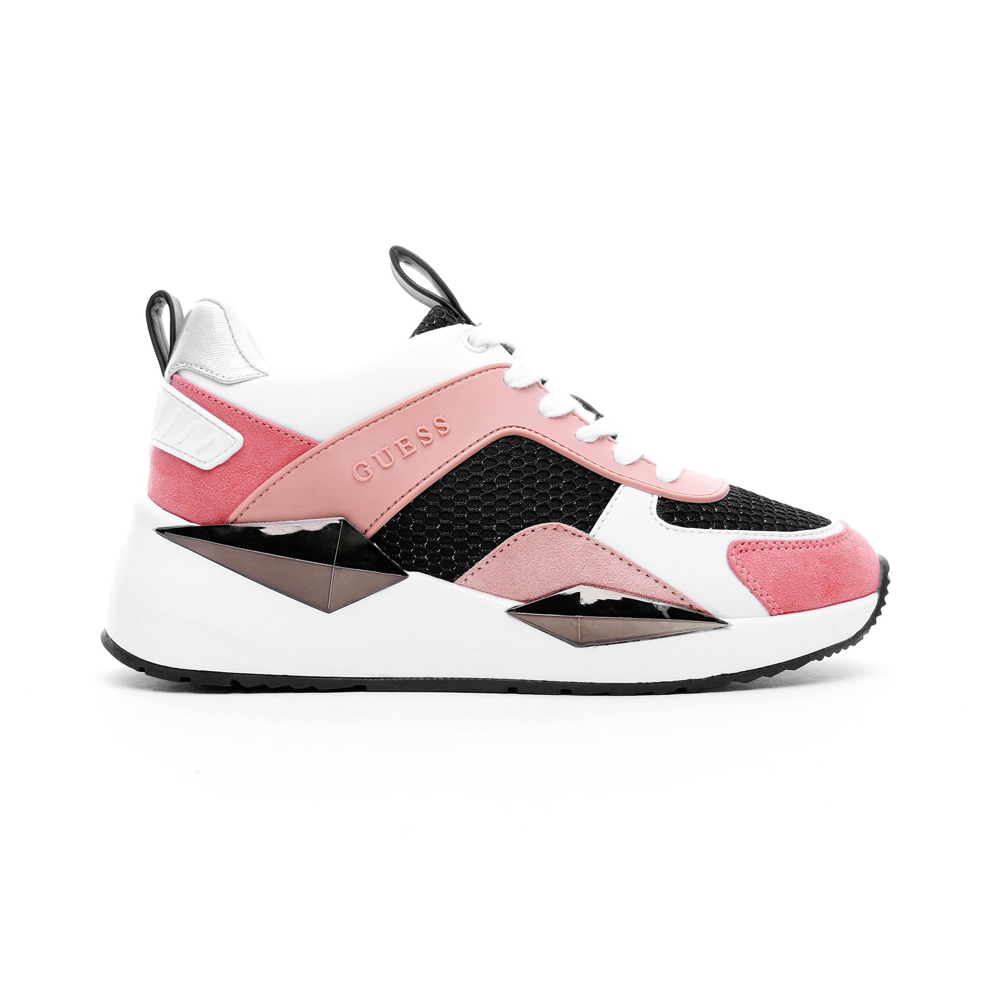 Guess Typical Kadın Beyaz-Pembe Spor Ayakkabı