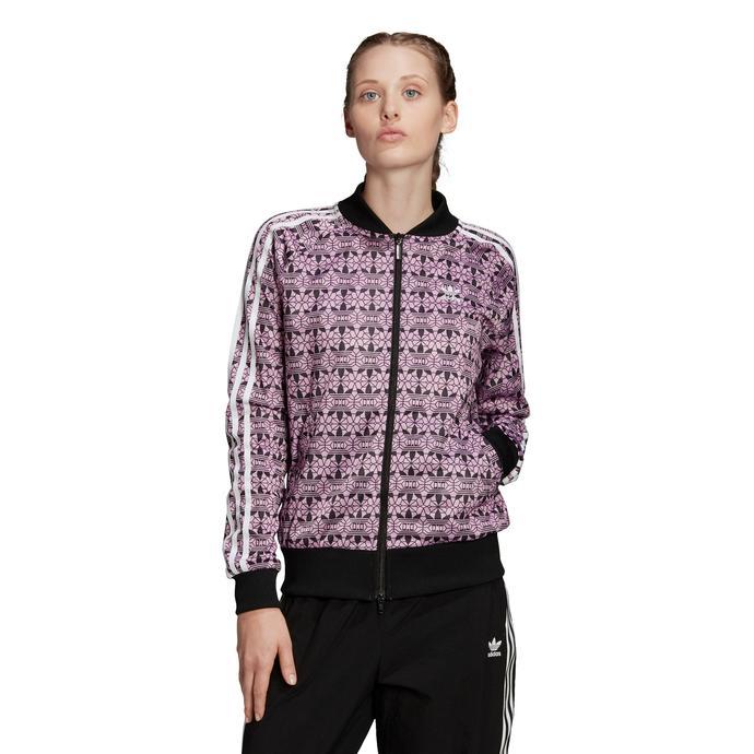 adidas AOP Kadın Mor Fermuarlı Sweatshirt