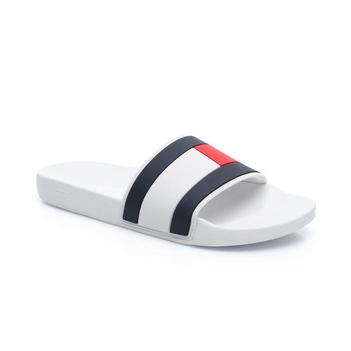 Tommy Hilfiger Essential Flag Pool Erkek Beyaz Terlik