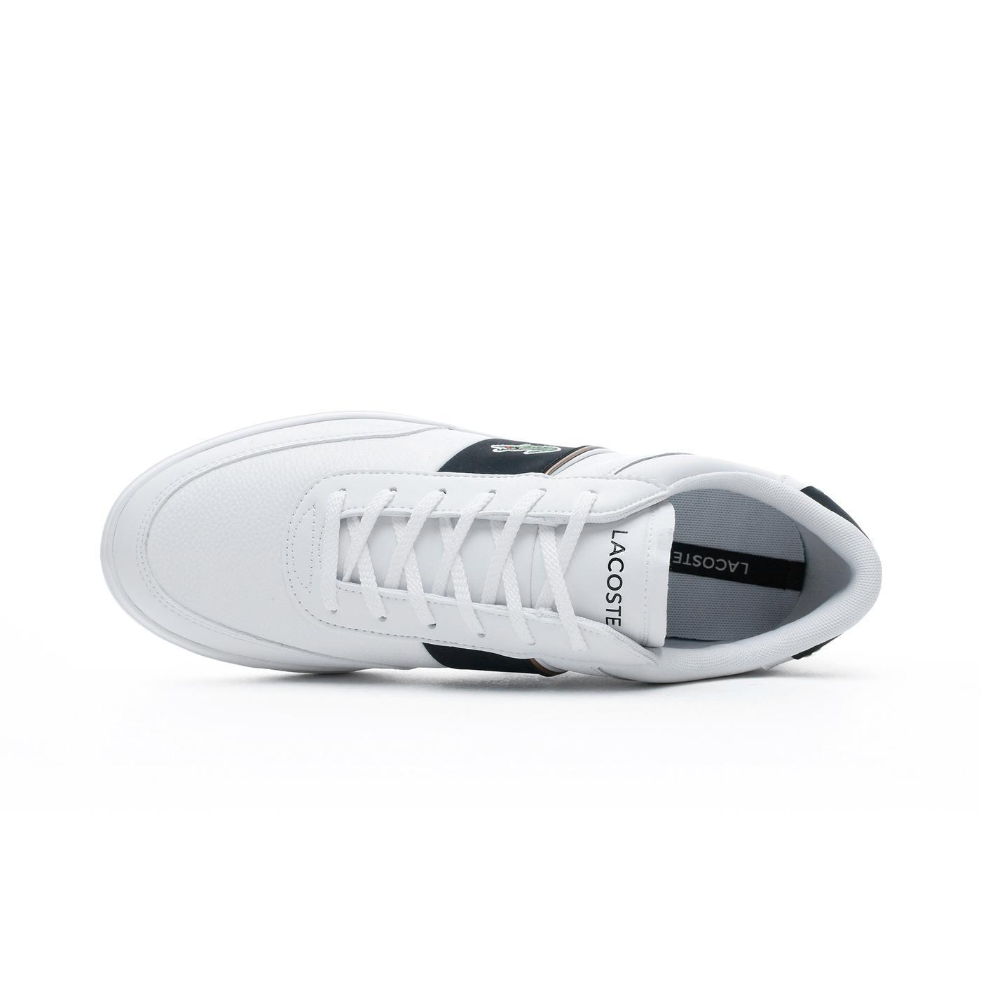 Lacoste Court-Master Erkek Beyaz - Siyah Günlük Ayakkabı