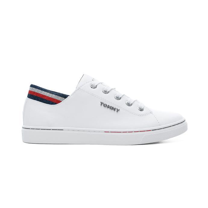 Tommy Hilfiger Glitter Detail City Kadın Beyaz Spor Ayakkabı