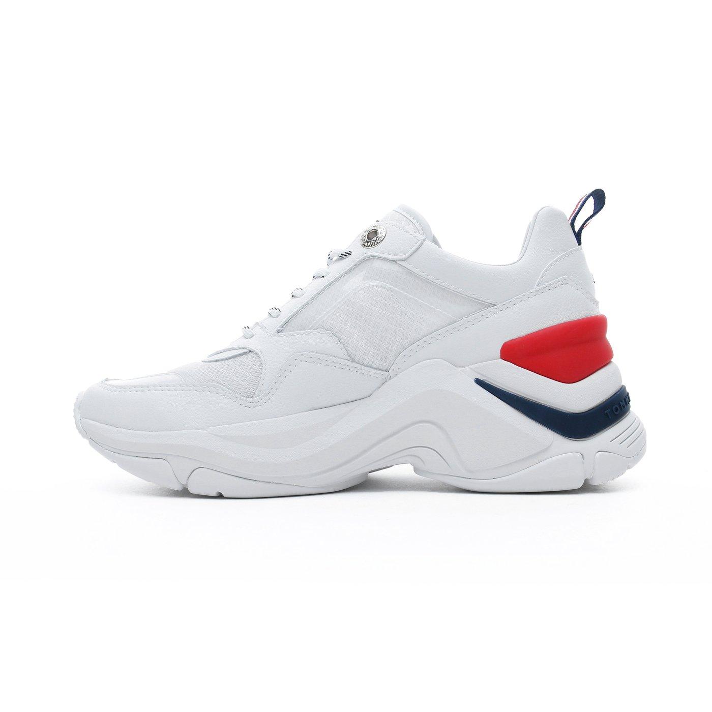 Tommy Hilfiger Internal Wedge Kadın Beyaz Spor Ayakkabı