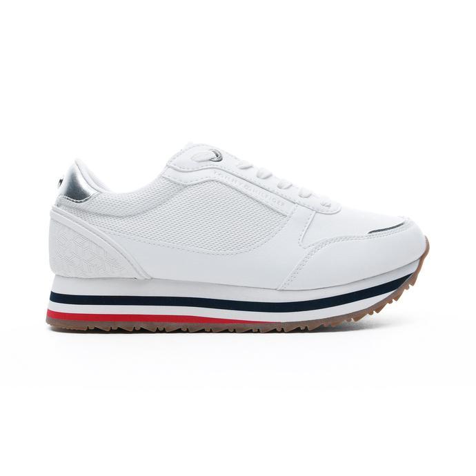 Tommy Hilfiger Monogram Kadın Beyaz Spor Ayakkabı