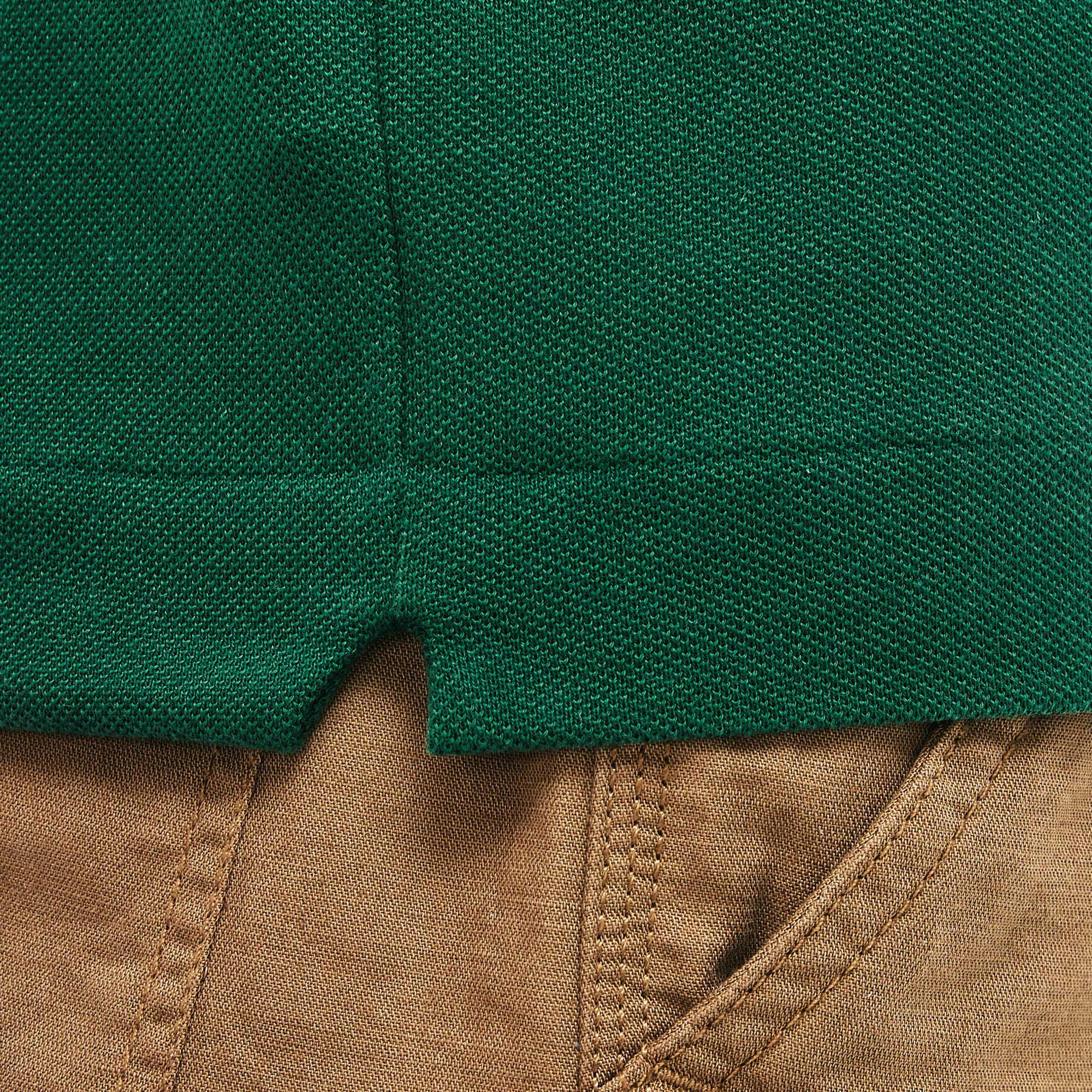 Lacoste L1212 Erkek Yeşil Regular Polo
