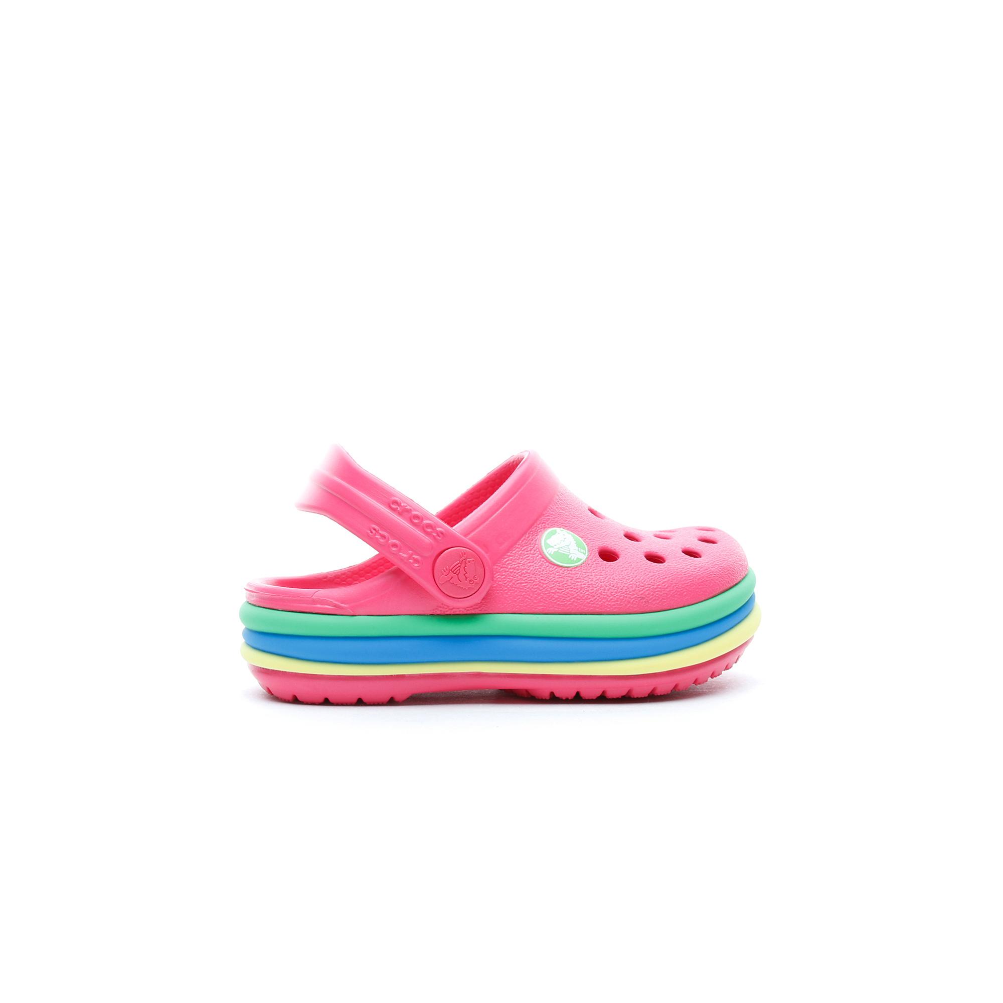 Crocs Cb Rainbow Band Clog K Çocuk Pembe Terlik