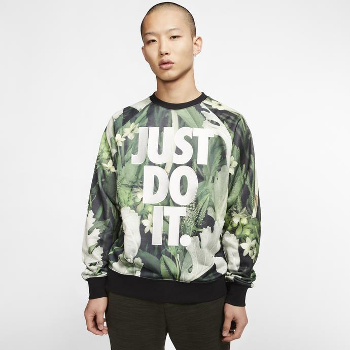 Nike Sportswear JDI Crew Erkek Yeşil Sweatshirt