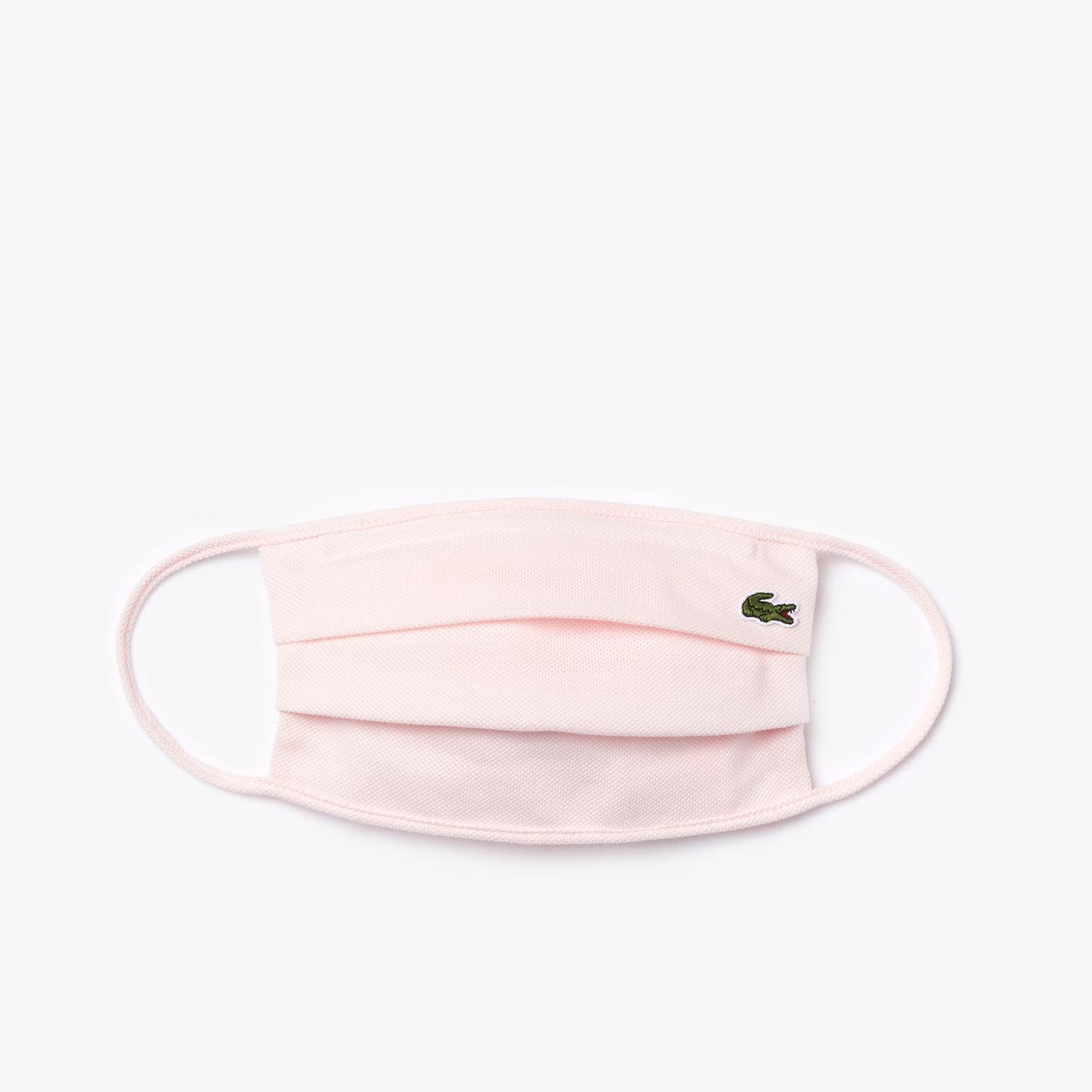 Lacoste Pamuklu Yıkanabilir Açık Pembe Maske