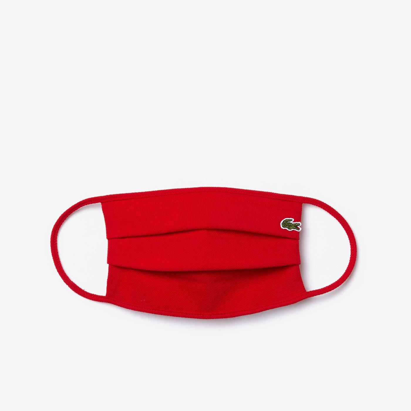 Lacoste Pamuklu Yıkanabilir Kırmızı Maske