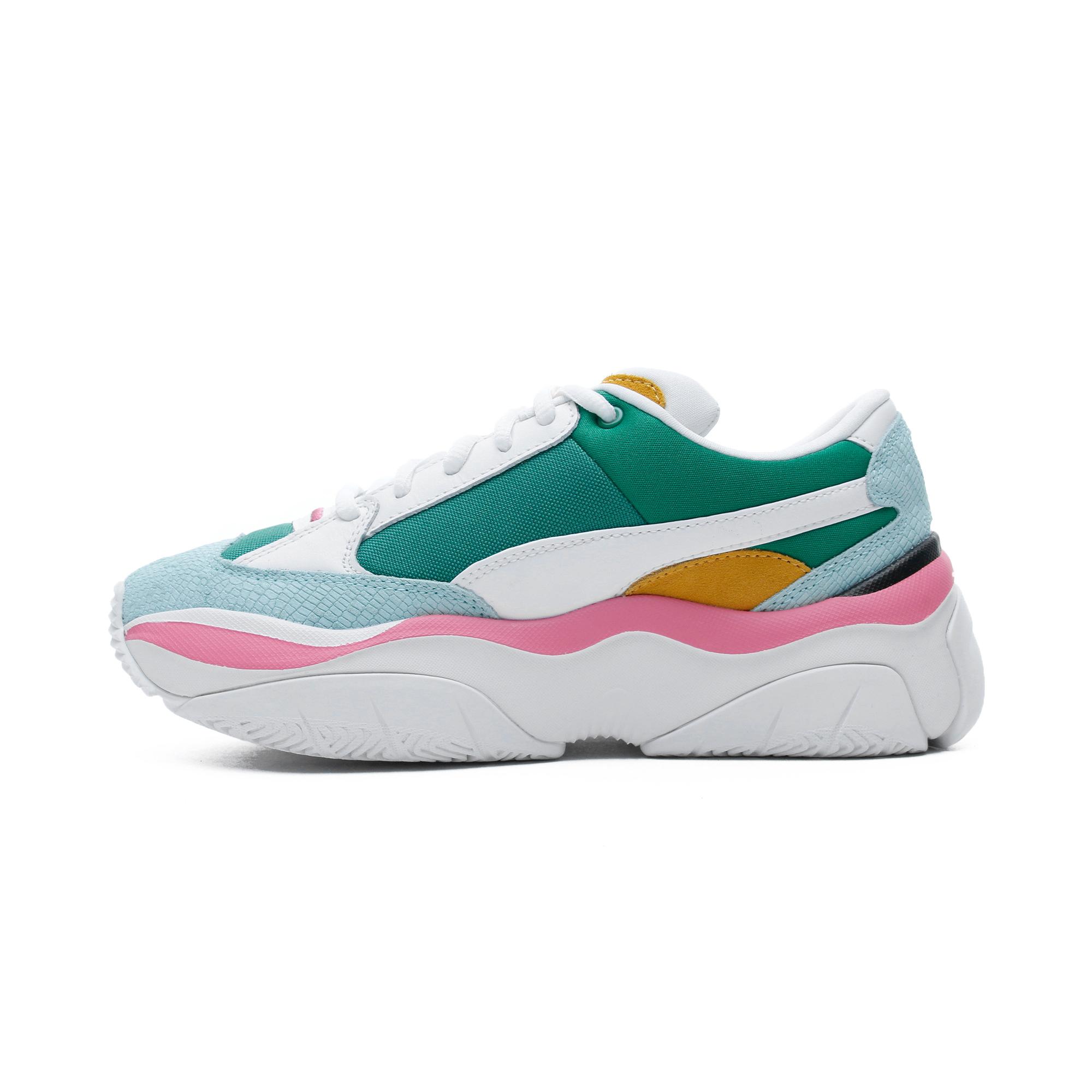 Puma Storm.Y Colour Block Kadın Beyaz-Yeşil Spor Ayakkabı