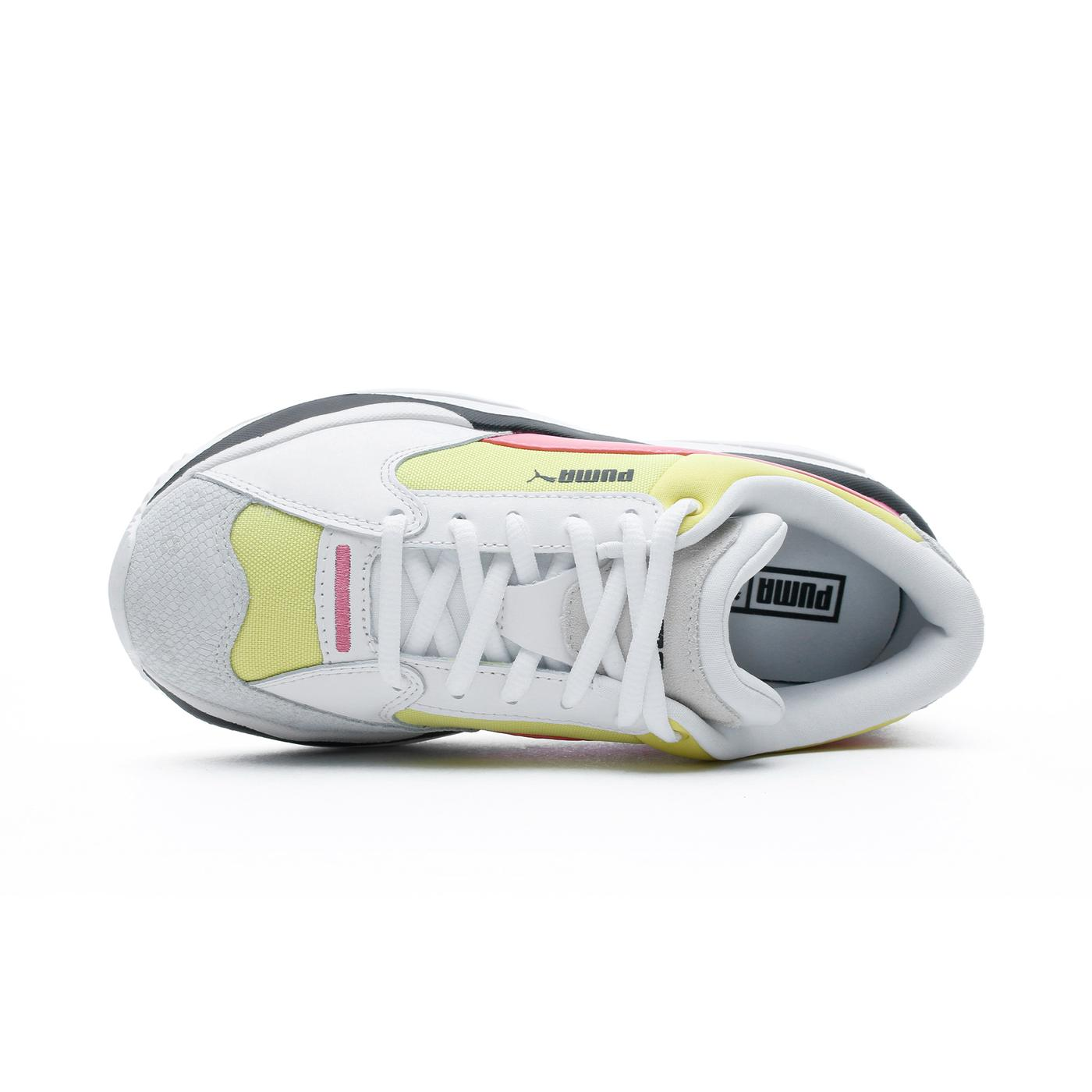 Puma Storm.Y Colour Block Kadın Beyaz-Sarı Spor Ayakkabı
