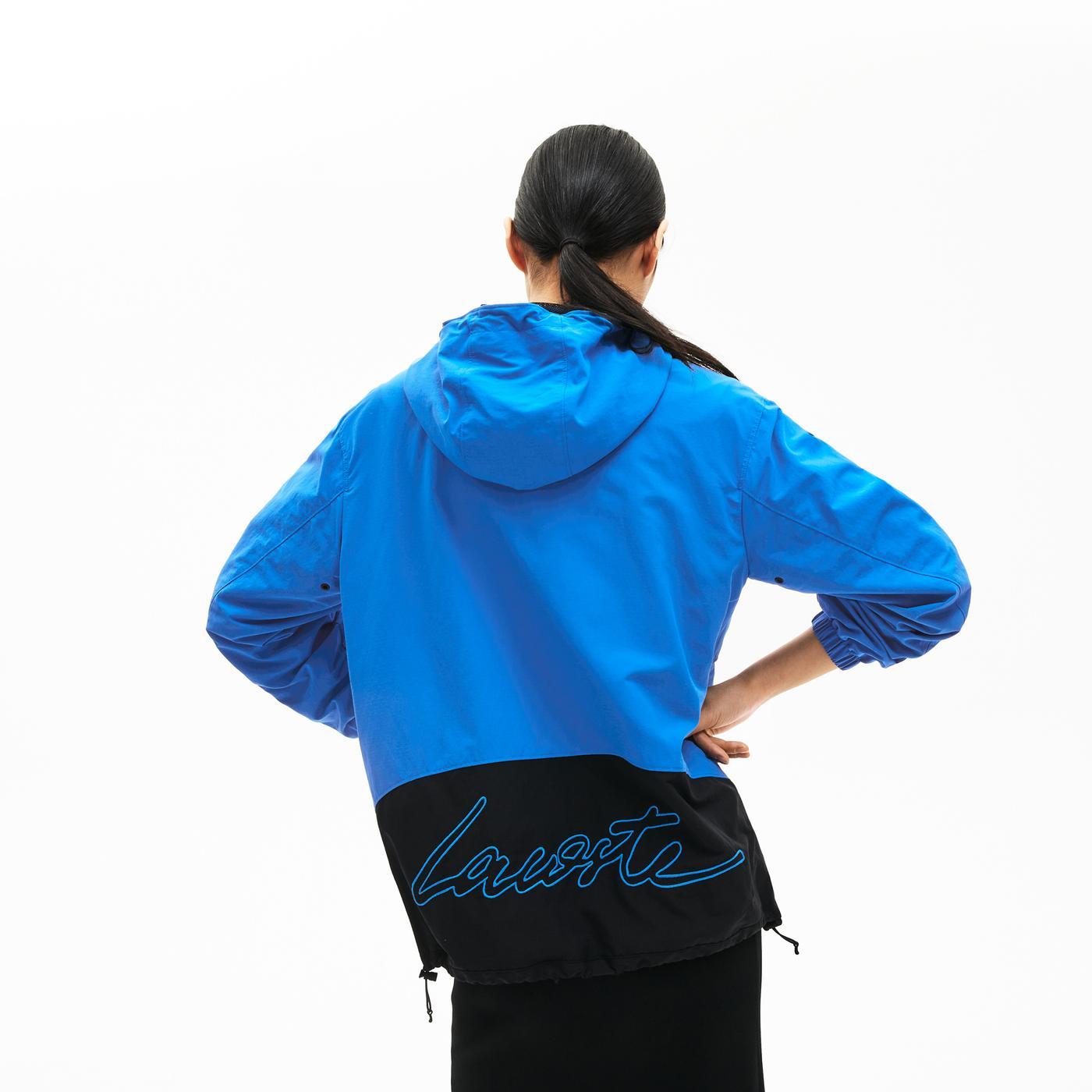 Lacoste LIVE Unisex Mavi Yağmurluk