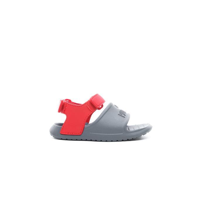 Puma Divecat v2 Injex Bebek Gri-Kırmızı Sandalet