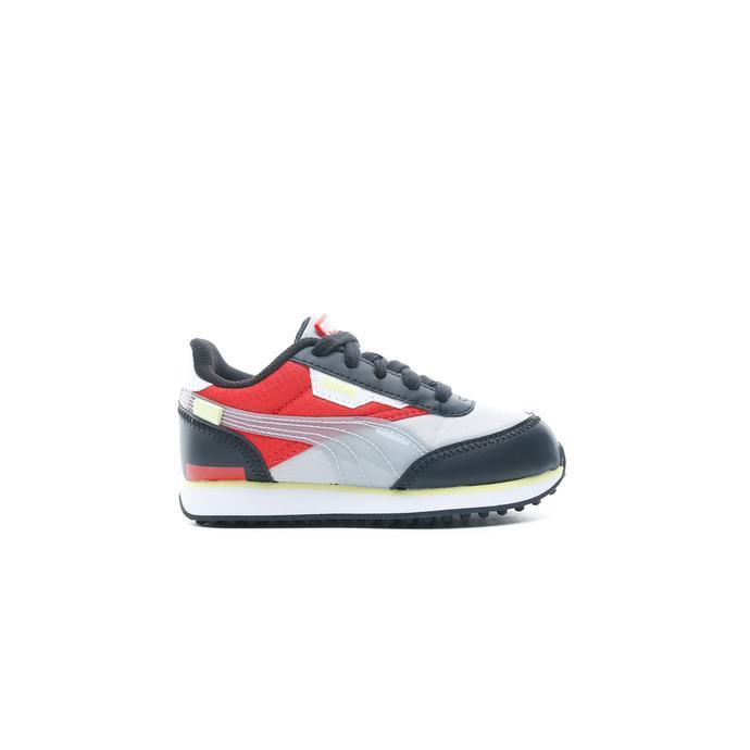 Puma Rider Fun On Çocuk Gri-Kırmızı Spor Ayakkabı
