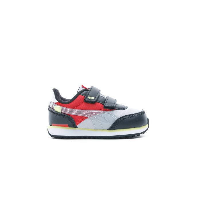 Puma Rider Fun On Bebek Gri-Kırmızı Spor Ayakkabı