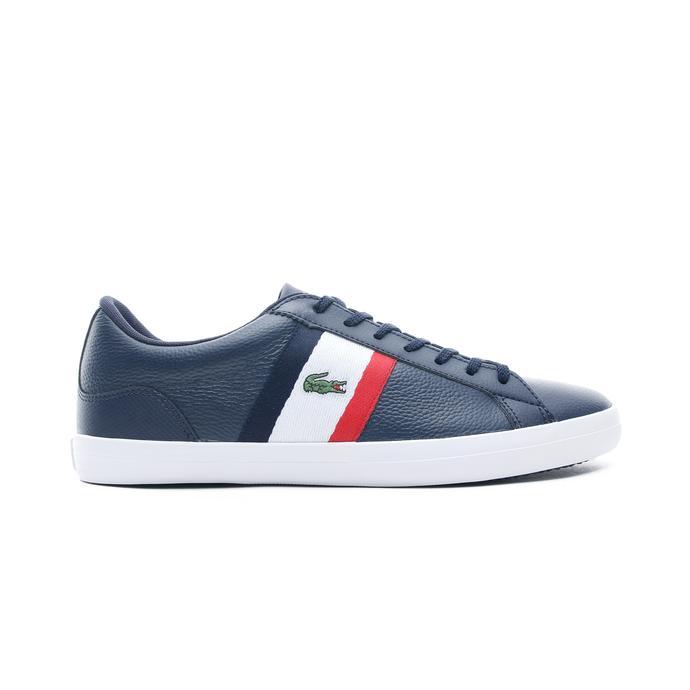 Lacoste Lerond Erkek Lacivert - Beyaz - Kırmızı Günlük Ayakkabı